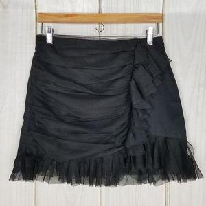 Zara Trafaluc Collection Black Gauze Mini Skirt